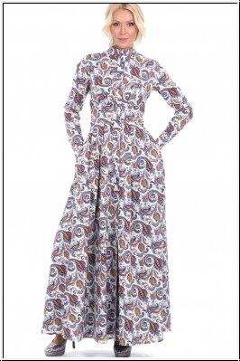 летнее платье с принтом