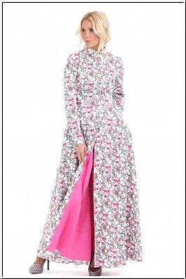 платье из хлопка с принтом