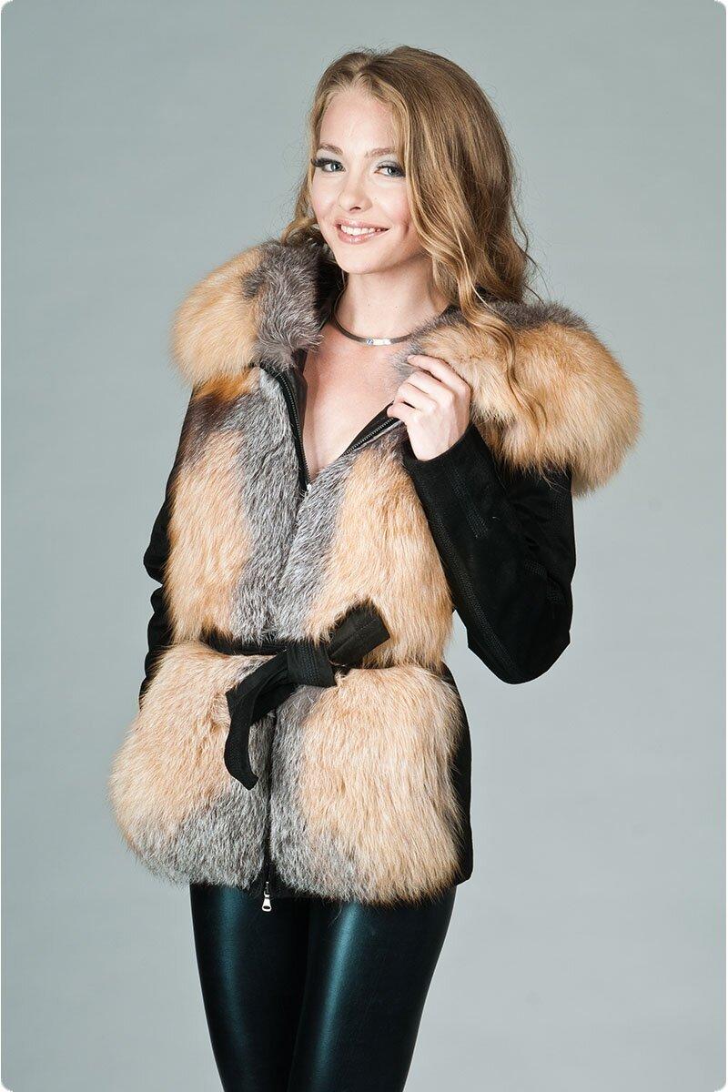 Зимние кожаные куртки с мехом для