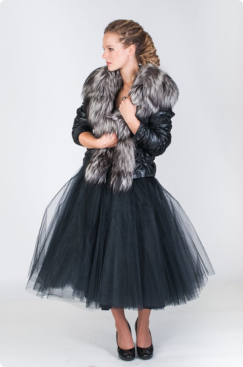 Зимние кожаные куртки с мехом